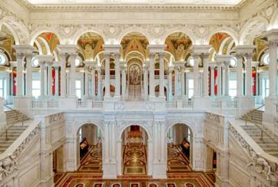 Library of Congress, hall, interior