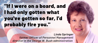 Linda Springer, OPM, quote