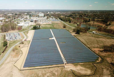 A nearly 15,000-panel solar energy array is expected to provide the NIST Gaithersburg, Maryland, campus with more than 8 million kilowatt-hours of energy each year—about 4 percent of the campus's energy use. The array is predicted to save NIST a minimum of $3.5 million in its first 20 years of operation.