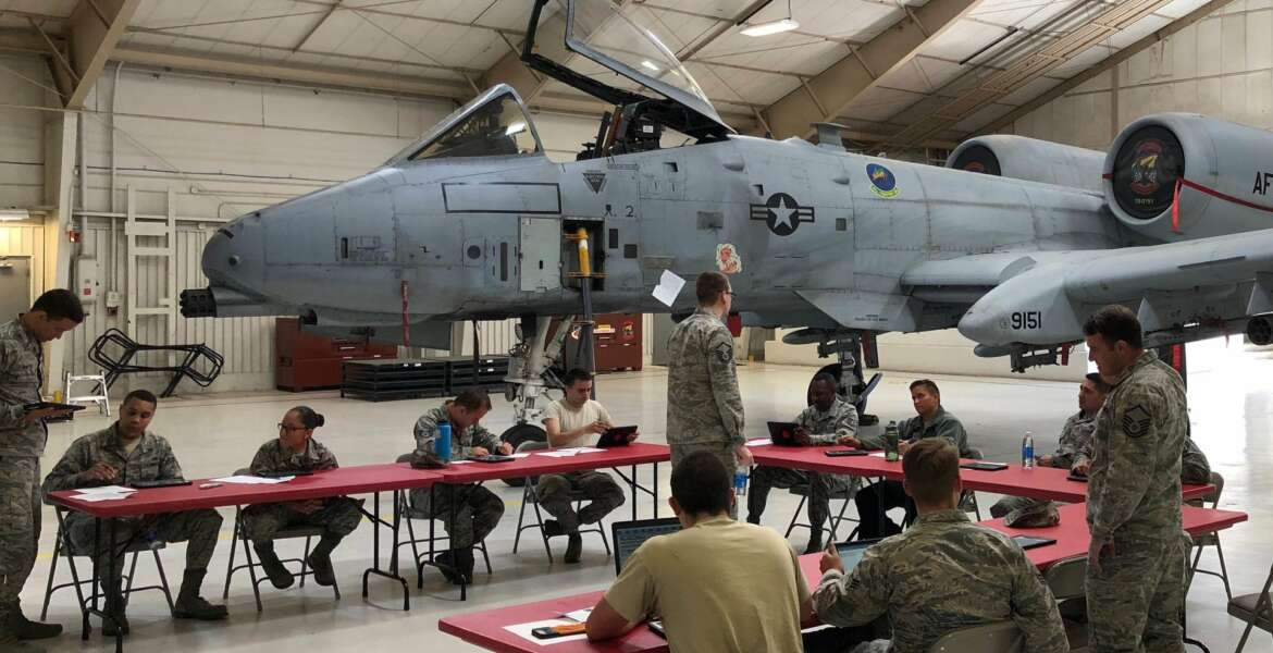 Air Force Reserve Command A4 Directorate, Logistics, Engineering and Force Protection, hosted a user acceptance testing session for the BRICE mobile app at Davis Monthan Air Force Base in Arizona with the 924th Fighter Group maintainers in March, 2018. Headquarters Air Force, AFRC, and Monkton teamed up to create and launch an iOS modern mobile app that enables maintainers to directly access the maintenance database from the flight line at the point of aircraft repair at the end of 2018.