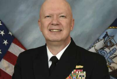 This image provided by the U.S. Navy shows Rear Adm. Jeffrey Harley, president of the U.S. Naval War College in Newport, R.I. Dozens of emails, which span from December 2017 to May 2019, were shared with The Associated Press by people at the war college who said they were concerned about Rear Adm. Harley's leadership and judgment. (U.S. Navy via AP)