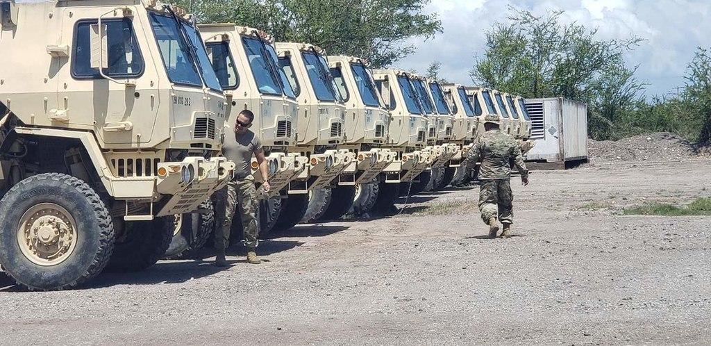 Puerto Rico National Guard, Hurricane Dorian, trucks, vehicles, soldiers