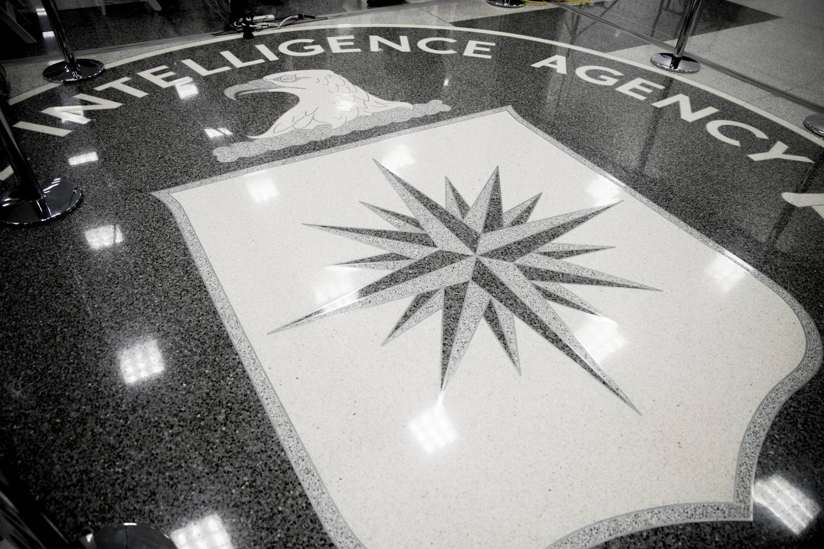 """FILE- This Jan. 21, 2017, file photo shows the floor of the main lobby of the Central Intelligence Agency in Langley, Va. The FBI """"exercised remarkable caution and candor"""" in securing search warrants that led to espionage charges against a former CIA employee, prosecutors have told a federal judge presiding over the case. Prosecutors said a court hearing is not necessary to reject Joshua Adam Schulte's claims that evidence should be tossed out because searches of his New York City residence and various electronic accounts were illegal. (AP Photo/Andrew Harnik, File)"""