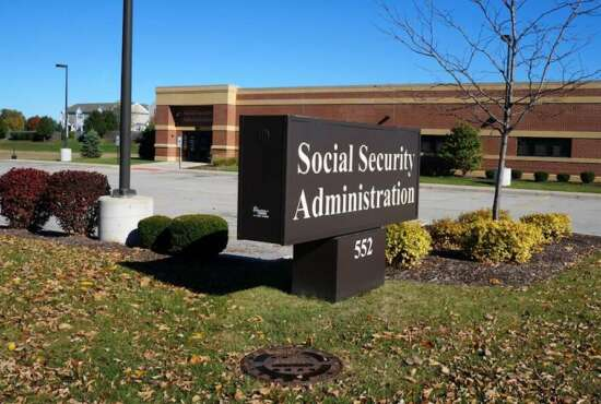 JOLIET, ILLINOIS / UNITED STATES - NOVEMBER 1, 2015: One may apply for social security disability, retirement, and survivor benefits at the Social Security Administration Building in Joliet.