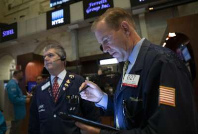 FILE - In this Sept. 18, 2019, file photo floor governor Michael Smyth works at the New York Stock Exchange. The U.S. stock market opens at 9:30 a.m. EDT on Thursday, Sept. 26. (AP Photo/Mark Lennihan, File)