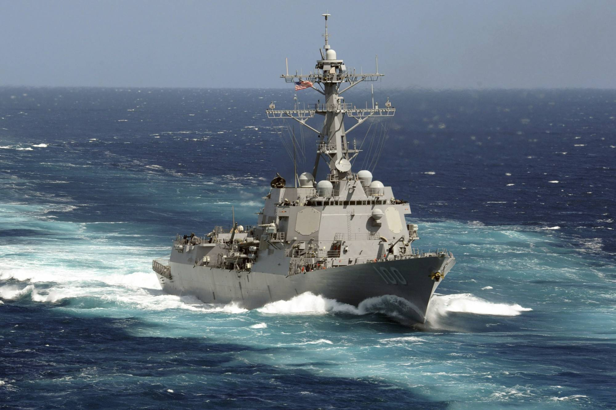 This May 18, 2011 photo made available by the U.S. Navy shows the guided-missile destroyer USS Kidd in the Pacific Ocean. On Saturday, April 26, 2020, the Navy said the number of sailors aboard the ship confirmed to be infected with the COVID-19 coronavirus has nearly doubled, rising from 18 to 33. (Mass Communication Specialist Seaman Apprentice Carla Ocampo/U.S. Navy via AP)