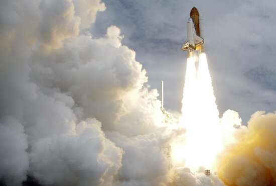 FILE - In this Friday, July 8, 2011 file photo, the space shuttle Atlantis lifts off from the Kennedy Space Center in Cape Canaveral, Fla. Atlantis was the 135th and last space shuttle launch for NASA. (AP Photo/John Raoux)