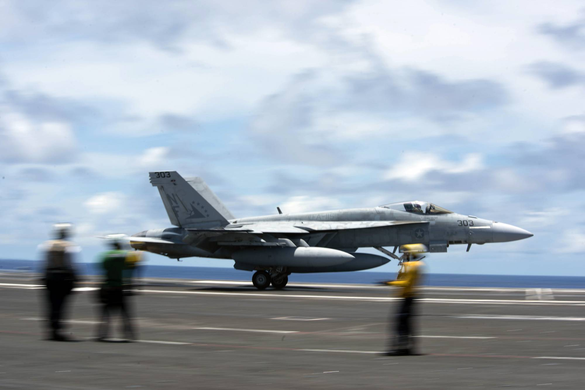 200610-N-ML137-1057 PHILIPPINE SEA (June 10, 2020) In this image provided by the U.S. Navy, an F/A-18E Super Hornet attached to the