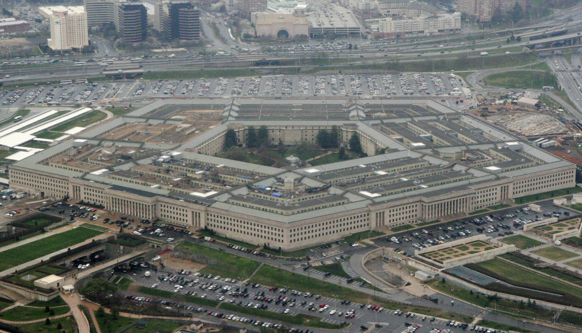 FILE - This March 27, 2008 file photo shows the Pentagon in Washington. A Senate committee abruptly canceled a confirmation hearing Thursday on retired Army Brig. Gen. Anthony Tata's nomination to a top Pentagon post after a furor over offensive remarks he made about Islam and other inflammatory comments. (AP Photo/Charles Dharapak, File)