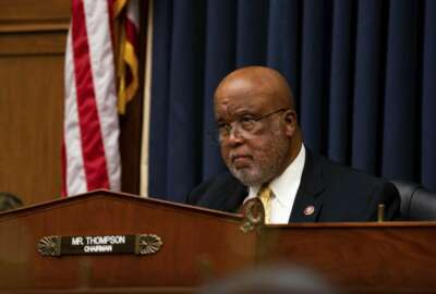 FILE - In this July 22, 2020, file photo Rep. Bennie Thompson, D-Miss., chairman of the House Committee on Homeland Security, listens during a House Committee on Homeland Security meeting on Capitol Hill in Washington. Thompson, 72, came to Congress in 1993. When he gaveled open the Democratic National Convention this month, he was the first from his state to serve as chairman. He told his colleagues he is passing down to his grandson the same instructions he was given as a teen learning how to drive 50 years ago. (Anna Moneymaker/The New York Times via AP, Pool, File)