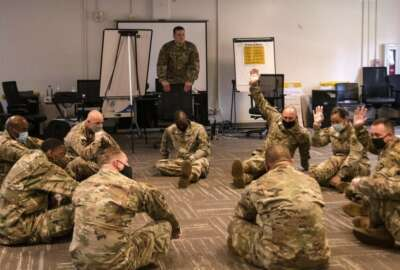 Soldiers participate in equal opportunity training at Fort Eustis, Virginia, June 23, 2020. The 60-hour course is designed to prepare Soldiers to be equal opportunity advisers in their respective units. (U.S. Army photo by David Overson) (Photo Credit: David Overson)
