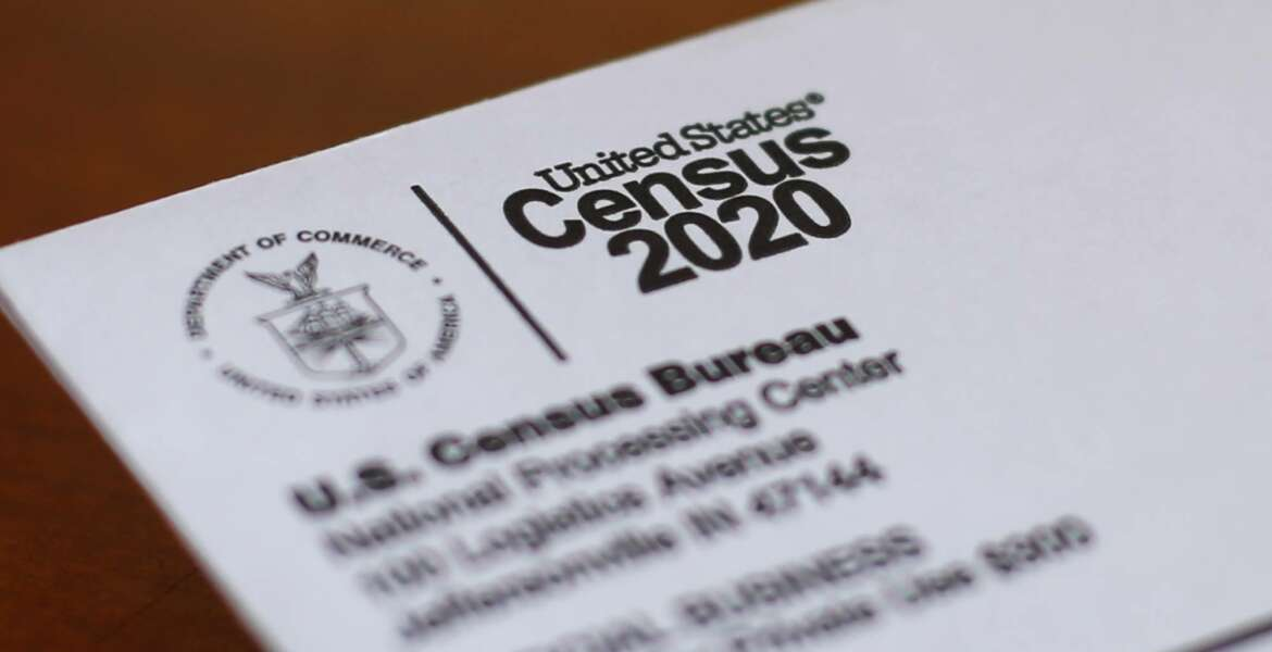 FILE - This Sunday, April 5, 2020, file photo shows an envelope containing a 2020 census letter mailed to a U.S. resident in Detroit. On Tuesday, Oct. 13, 2020, the U.S. Supreme Court stopped the once-a-decade head count of every U.S. resident from continuing through the end of October. (AP Photo/Paul Sancya, File)