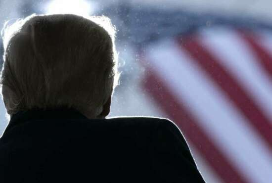 President Donald Trump speaks at a campaign rally at HoverTech International, Monday, Oct. 26, 2020, in Allentown, Pa. (AP Photo/Alex Brandon)