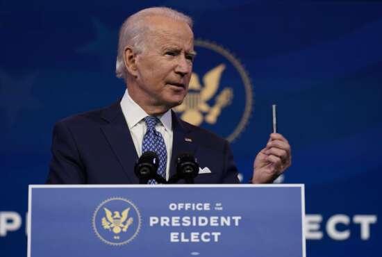 President-elect Joe Biden speaks at The Queen Theater in Wilmington, Del., Tuesday, Dec 22, 2020. (AP Photo/Carolyn Kaster)
