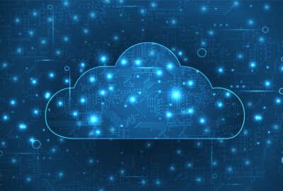Modern cloud technology. Integrated digital web concept  vector background