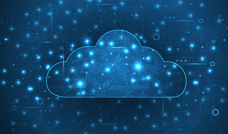 Modern cloud technology. Integrated digital web concept  vector background