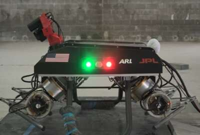 The first applications for biohybrid robotics the team ared expected to focus on include legged platforms, similar to LLAMA, a research platform developed through the Army's Robotics Collaborative Technology Alliance. (U.S. Army)