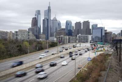 Motor vehicle traffic moves along the Interstate 76 highway in Philadelphia, Wednesday, March 31, 2021. Looking beyond the $1.9 trillion COVID relief bill, President Joe Biden and lawmakers are laying the groundwork for another of his top legislative priorities — a long-sought boost to the nation's roads, bridges and other infrastructure that could meet GOP resistance to a hefty price tag. (AP Photo/Matt Rourke)