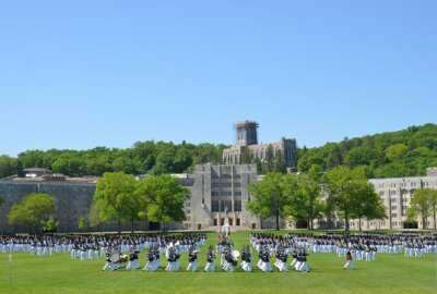 The Class of 2015 forms together on the Plain at West Point one last time, for their Graduation Parade May 22, 2015. This is the final parade that the class will conduct as cadets before their commissioning as 2nd Lieutenants in the U.S. Army. (U.S.... (Photo Credit: U.S. Army)