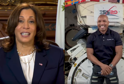 Vice President Harris congratulated Glover on his historic mission as the first African American to fly on a commercial spacecraft, and the first to fly on a long-term mission on the orbiting laboratory.