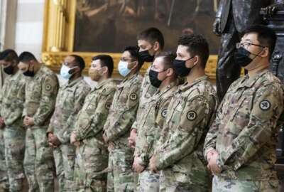 National Guard troops pay respects to U.S. Capitol Police officer William