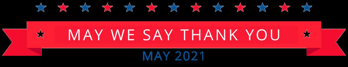 May We Say Thank You 2021 logo