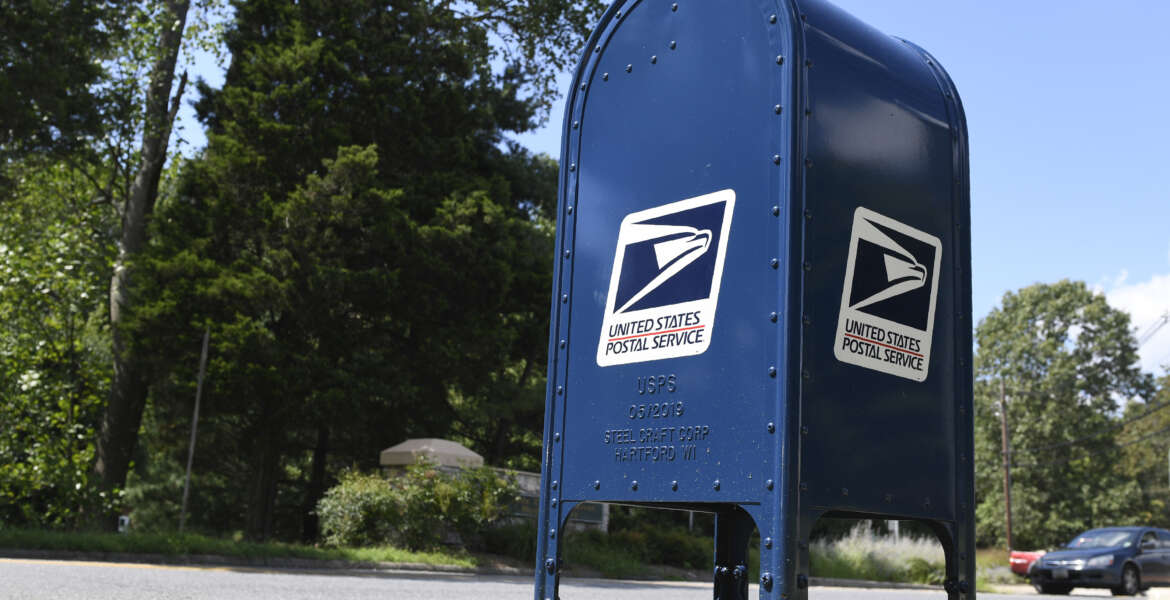 A mailbox is seen in Annapolis, Md., Tuesday, Aug. 18, 2020. (AP Photo/Susan Walsh)