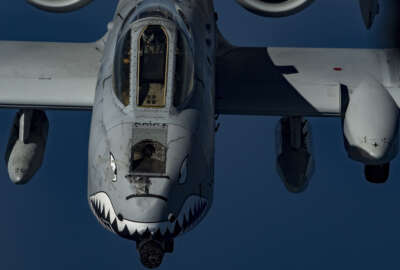A U.S. Air Force A-10 Thunderbolt II flies above the U.S. Central Command area of responsibility, Jan. 17, 2020. The Thunderbolt II is a highly accurate, global reach airframe that provides U.S. and coalition forces a maneuverable close air support and precision strike platform. (U.S. Air Force photo by Staff. Sgt. Daniel Snider)