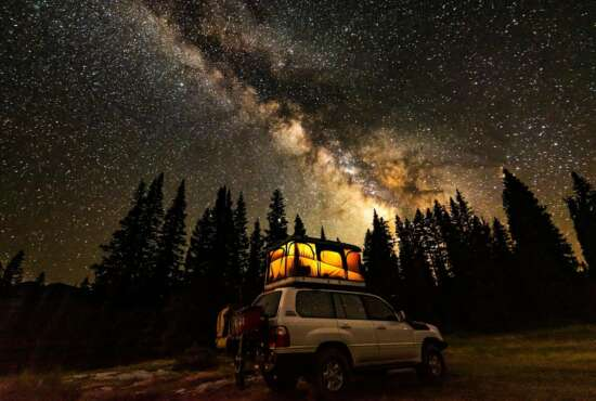 Mark Gruenhaupt's stunning photo of the Milky Way over the San Juan National Forest in Colorado earned him top honors in the 2020 Share the Experience official federal recreation lands annual photography competition.  (National Park Foundation's Share the Experience photo contest/Mark Gruenhaupt)