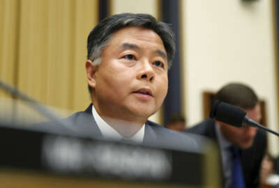 FILE - In this July 24, 2019 file photo Rep. Ted Lieu, D-Calif., asks questions to former special counsel Robert Mueller, as he testifies before the House Judiciary Committee hearing on his report on Russian election interference, on Capitol Hill, in Washington. Lieu an immigrant from Taiwan who is a now a Democratic California congressman has emerged as one of the most confrontational voices against President Donald Trump and his immigration policies. He hopes to use his enhanced profile and aggressive stances to help defeat Trump next year. (AP Photo/Andrew Harnik, File)