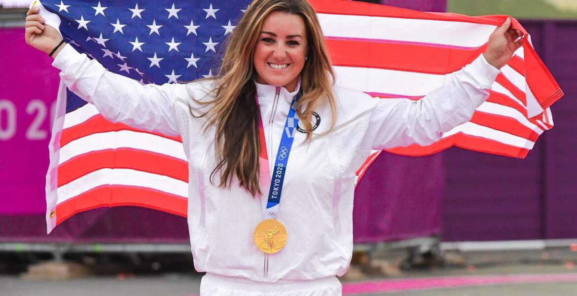 U.S. Army 1st Lt. Amber English wins gold medal and sets new Olympic record in Women's Skeet Shooting at the 2020 Tokyo Olympics