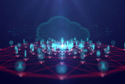 Cloud computing technology and internet of Things concept, Big data and connection technology