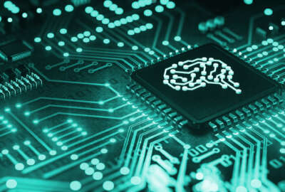 AI artificial intelligence concept Central Computer Processors CPU concept, 3d rendering, Circuit board, Technology background, Motherboard digital chip, Tech science background, machine learning