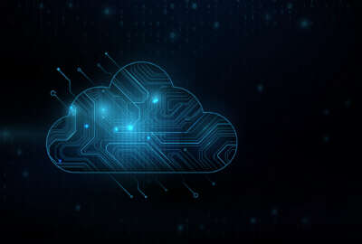 Cloud computing technology internet storage concept with circuit board. Internet data services. Vector illustration