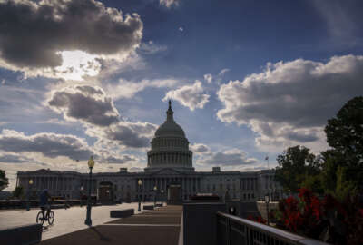 The Capitol is seen in Washington, Monday, Sept. 20, 2021, as Congress returns to a busy schedule and Democratic lawmakers are laboring to shoulder President Joe Biden's massive $3.5 trillion