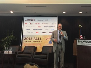 Roger Waldron, President, Coalition for Government Procurement, speaks at the CGP Fall Conference at the Westin Tyson's Corner, October 22, 2015. (Francis Rose/Federal News Radio)