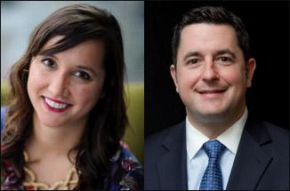 Headshots of Cristina Miller & Adam Horvath