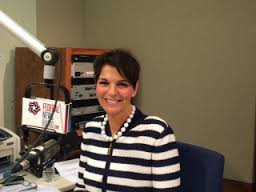 GSA's Kay Ely speaking during an interview at Federal News Radio.