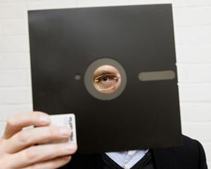 A 81/2 inch floppy disk like this one is being used by a DoD computer system that is more than 50 years old.