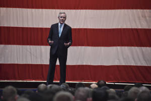Secretary of the Navy Ray Mabus speaks during an all-hands call at Naval Base Kitsap-Bremerton. (U.S. Navy photo by Petty Officer 1st Class Cory Asato)