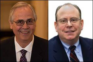 Head shots of Bill Gormley and Tom Sisti