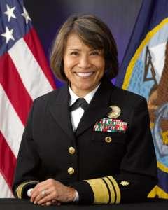 Head shot of Vice Admiral Raquel Bono