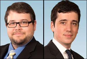 Headshots of O'Keefe and Wiedermann