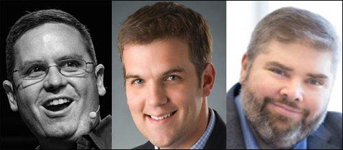 Head shots of Harvey, Wodicka and Brock