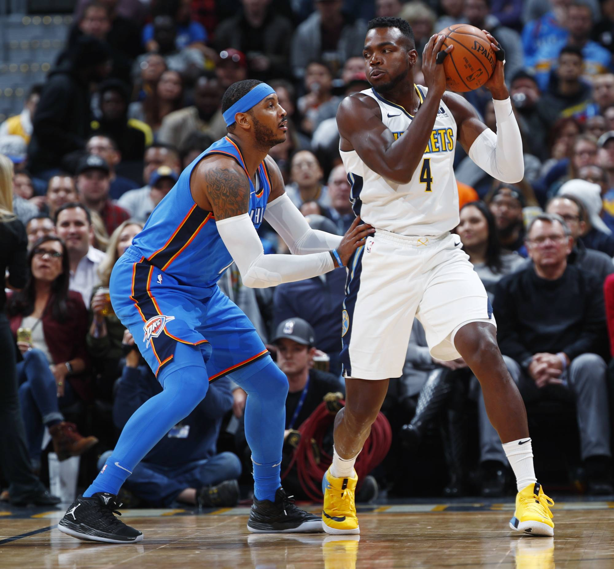 Mudiay's 21 Points Leads Nuggets Past Thunder 102-94