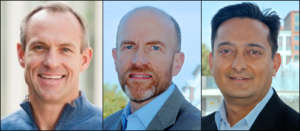 head shots of Brigner, Hager, and Padam