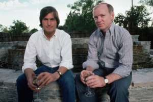 Group photo of Steve Jobs and Regis McKenna